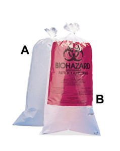 "Biohazard Disposal Bags, 24 x 36"", Printed HDPE, case/100"