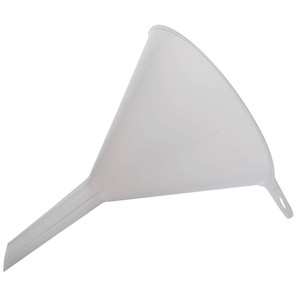 Lightweight Utility Funnel, Ribbed, Polypropylene, 150 mm x 17mm stem, pack/5