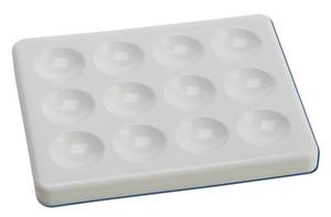Autoclavable Spot Plates, Spotting Dishes, 12 cavity x 1mL, case/10