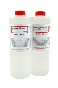 Isopropyl Alcohol 70%, Lab Grade, 500mL, pack/2