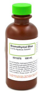 Bromothymol Blue Solution, 0.01%, (Aqueous), 100mL