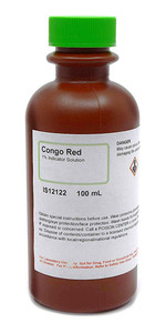 Congo Red Solution, 1.0%, Indicator 100mL