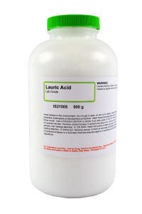 Lauric Acid, Lab Grade, 500 grams