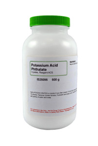 Potassium Acid, Phthalate, Crystals, Reagent ACS Grade, 500 grams