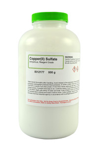 Copper (II) Sulfate Anhydrous, Reagent Grade, 500 grams