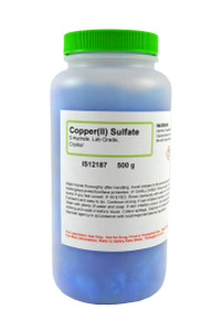 Copper (II) Sulfate 5-Hydrate, Lab Grade, Crystals, 500 grams