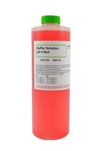 Buffer Solution, pH 4.00 Red, 500mL