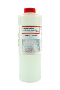 Ethyl Alcohol 95%, Denatured, Reagent Grade, 500mL