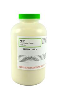 Agar, Bacteriological Powder, Lab Grade, 500 grams