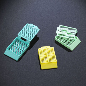 Tissue Embedding Cassettes with Lids, 30 deg Writing Area, Aqua, case/1000