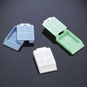 Biopsy Embedding Cassette with Lid, 30 deg Writing Area, White, case/1000
