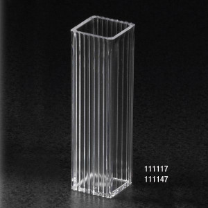 Spectrophotometer Cuvette, Square, 4.5mL (10mm), Polystyrene, 2 Clear Sides, case/1000