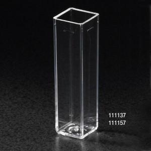 Spectrophotometer Cuvette, Square, 4.5mL (10mm), Polystyrene, 4 Clear Sides, case/500