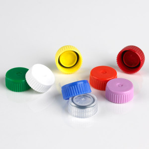Screw Cap for Microtube with O-Ring, Blue, bag/1000
