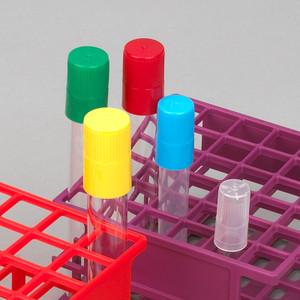 Diamond Culture Tube Cap for 20mm Glass Culture Tubes, Polypropylene, Blue, 5 Bags/Carton, case/500
