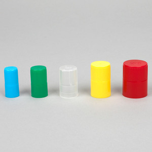 Diamond Culture Tube Cap for 25mm Glass Culture Tubes, Polypropylene, Blue, 5 Bags/Carton, case/500