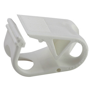 """Single Position Tubing Clamp, White PP for 1/4"""" to 1/2"""" OD tubing, pack/100"""
