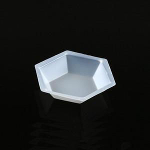 Weighing Boat, Plastic, Hexagonal, Antistatic, Polystyrene, White, Small, 20mL, case/500