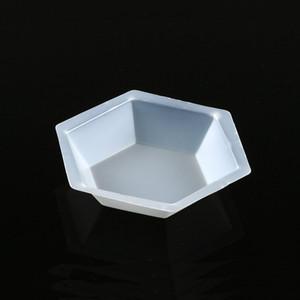 Weighing Boat, Plastic, Hexagonal, Antistatic, Polystyrene, White, Medium, 50mL, case/500
