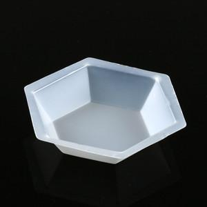 Weighing Boat, Plastic, Hexagonal, Antistatic, Polystyrene, White, Large, 200mL, case/500