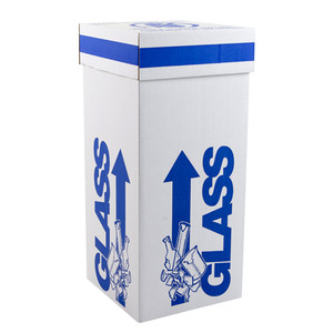 Large Glass Disposal Box, Floor Model, 12 x 12 x 27, case/6