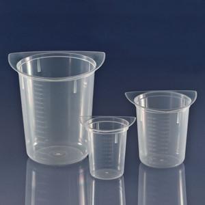 Beaker, Three Corner, Clarified Polypropylene, Graduated, 50mL, case/100