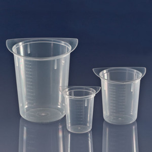 Beaker, Three Corner, Clarified Polypropylene, Graduated, 800mL, case/100