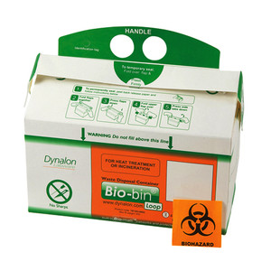 Bio-Bin Biohazard Waste Containers, Loop Model 2.5L, case/50