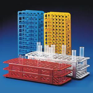 Snap-N-Rack Tube Rack for 12mm-13mm Tubes, 90-Place, Polypropylene, Blue