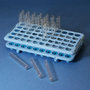 Grip Rack, Rack with Tube Grippers for up to 17mm Tubes, 50-Place, Autoclavable, Blue