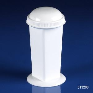 Coplin Microscope Slide Staining Jar, 5-10 Place, Polypropylene, White, Screw Cap, case/12