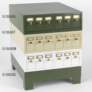 Slide Storage Cabinet, 6 Drawers, Holds up to 4500 slides, Metal, White