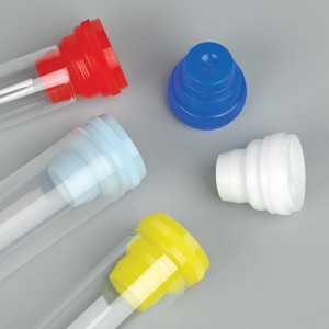 Plug Cap, Multi-Fit for most 10mm, 12mm, 13mm and 16mm Tubes, Light Blue, bag/1000