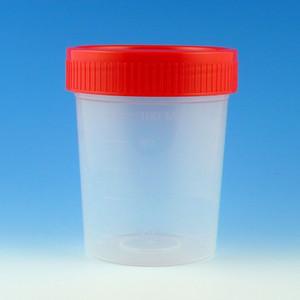 Specimen Container, 4oz with Red Caps, Nonsterile, PP, Graduated, Bulk, case/500