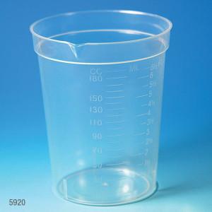 Specimen Container, 6.5oz with Pour Spout, PP, Graduated, case/500
