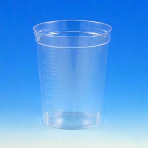 Specimen Container, 6.5oz with Pour Spout, Polystyrene, Graduated, case/500