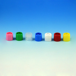 Screw Cap for Sample Tubes with External Threads (# GSCI-6030-6059), Blue, bag/1000
