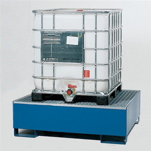 1-Tote IBC Containment Dispensing Platform, Single IBC, Painted Steel