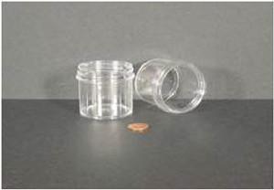 Bulk Plastic Jars, 90mL (3oz), Polystyrene, 58mm OD, Screw Caps, case/432