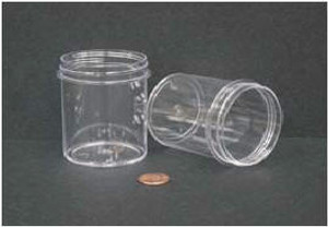 Bulk Plastic Jars, 120mL (4oz), Polystyrene, 58mm OD, Screw Caps, case/280