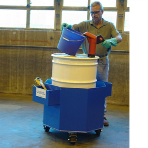 1-Drum Steel Transport Sump w/Casters