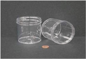 Bulk Plastic Jars, 180mL (6oz), Polystyrene, 70mm OD, Screw Caps, case/200