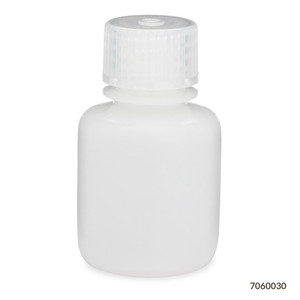 Bottles, Narrow Mouth HDPE with PP Screw Caps, 30mL, pack/12
