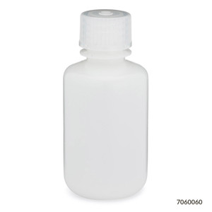 Bottles, Narrow Mouth HDPE with PP Screw Caps, 60mL, pack/12