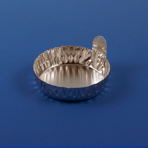 Aluminum Dish, 43mm, 1.0g (20mL), Crimped Side with Tab, case/1000