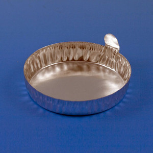 Aluminum Dish, 70mm, 2.0g (80mL), Crimped Side with Tab, case/1000