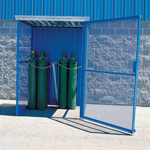 Knock Down Cage for 24 Upright Gas Cylinders, Collapsible