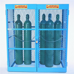 Gas Bottle & Cylinder Storage Cage, Double Vertical, 10-20 Cylinders