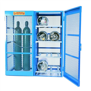 Gas Bottle & Cylinder Storage Cage, 8 Horizontal or 5-10 Verticals