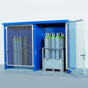 Gas Cylinder Cage/ Storage Locker, 2 hr Fire Rated, 24 Cylinders